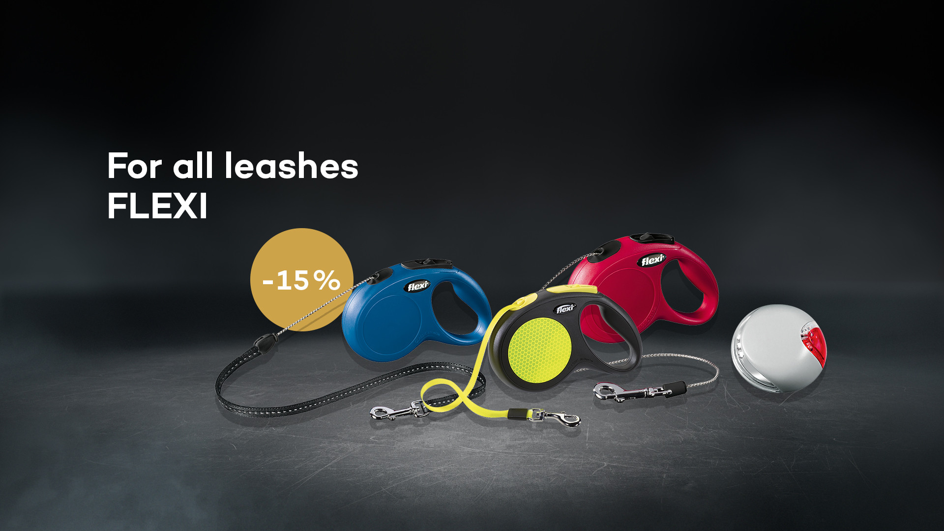 For all leashes FLEXI 15% discount