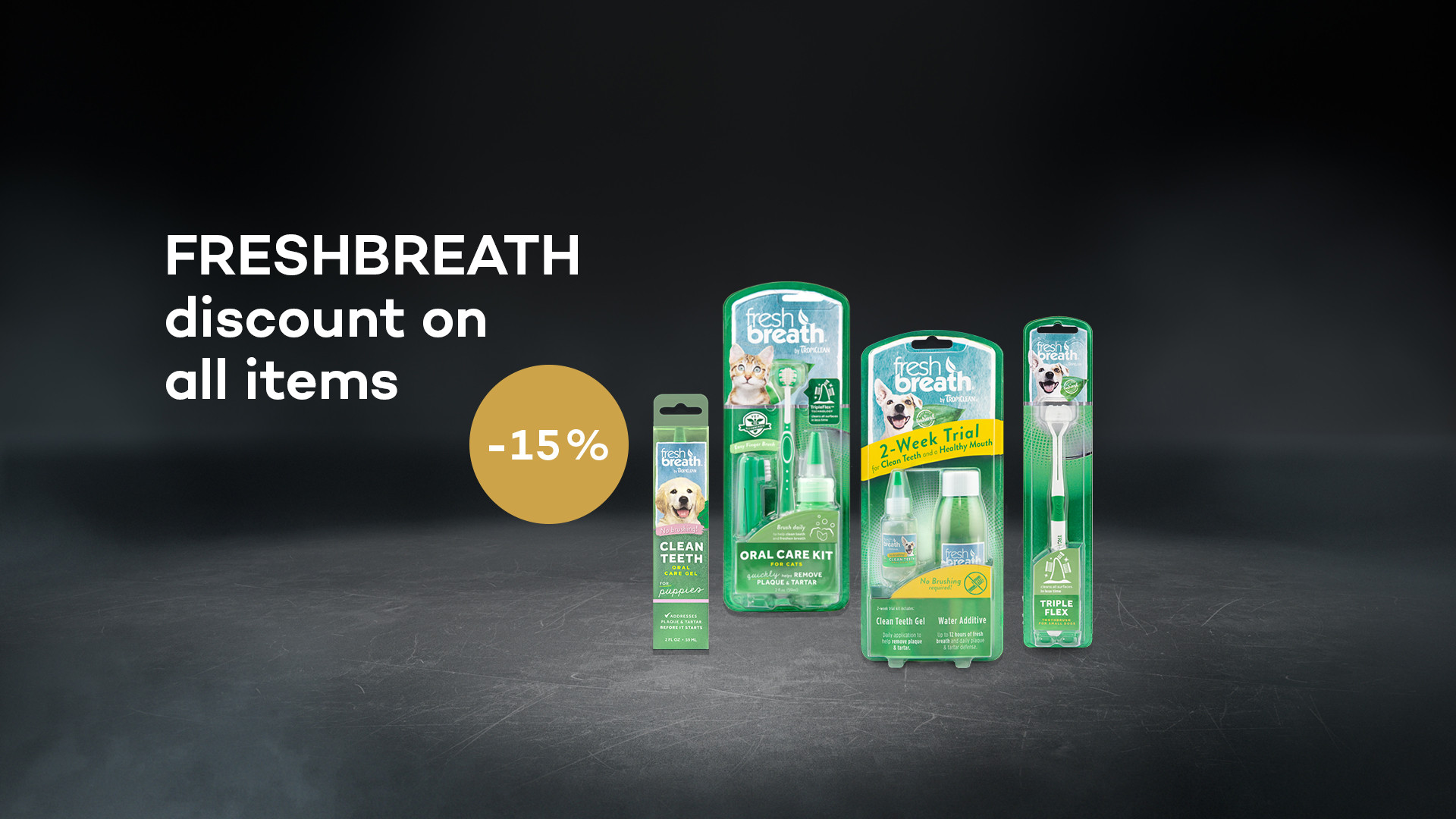 TPL FRESHBREATH 15% discount on all items