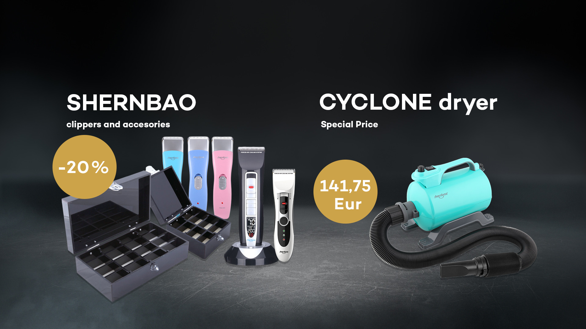 Discount for SHERNBAO clippers and accesories -20%