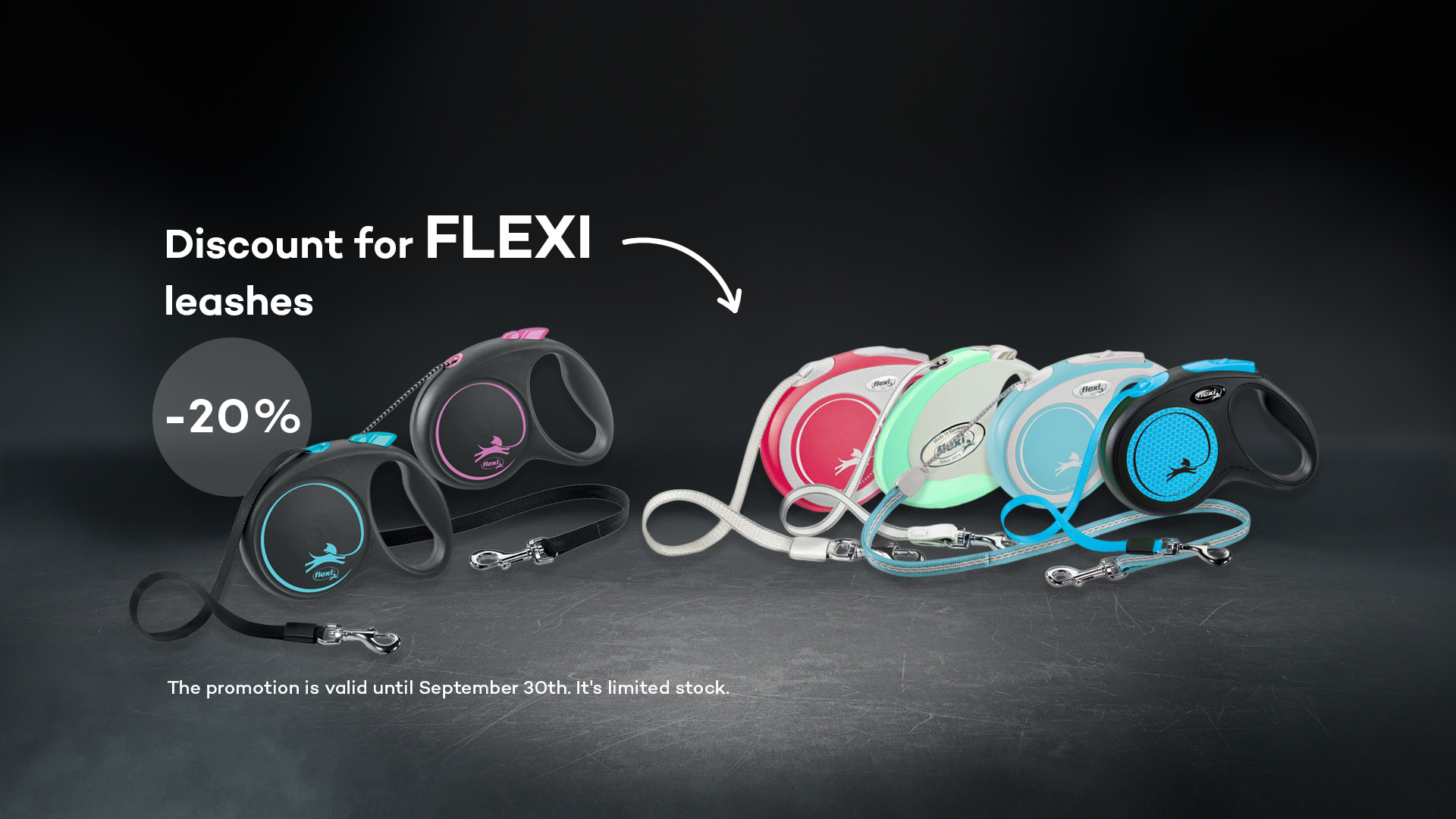 20% discount for FLEXI leashes