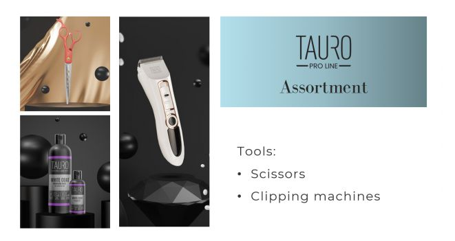 Tauro Pro Line scissors and clipping machines