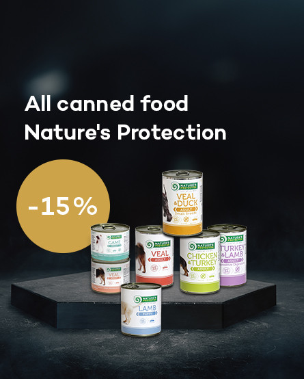 All canned food Natures Protection 15% discount