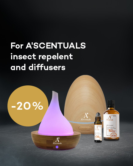 ASCENTUALS insect repelent promotion and diffusers 20%