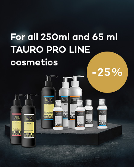 For all 250ml and 65 ml Tauro proline cosmetics 25% discount