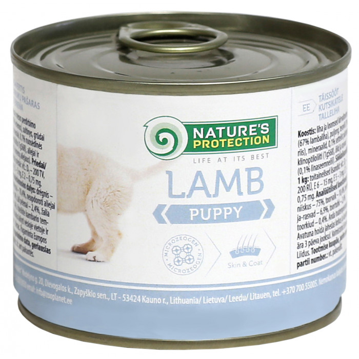 NATURE'S PROTECTION Puppy Lamb Canned dog food