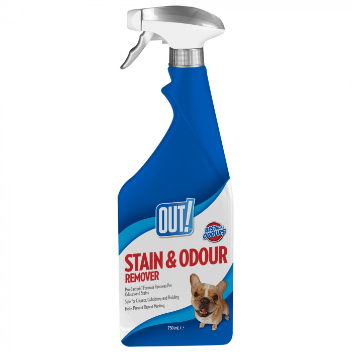 OUT! Dog , spray for odors and stains remowing