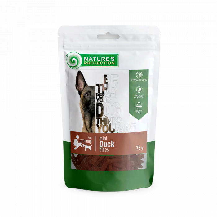 NATURE'S PROTECTION snack for dogs mini duck dices,