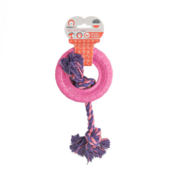 MISOKO&CO Toy for dogs, ring with rope