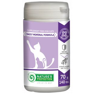 NATURE'S PROTECTION Daily Mineral Formula, supplement for cats, 140 tbl., 70 g