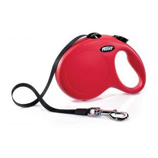 FLEXI Comfort Leash, max 50 kg, 5 m, striped  red, L