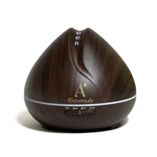 A'SCENTUALS Ultrasonic diffuser 400 ml, dark wood imitation