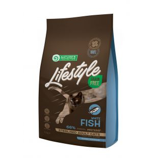 NATURE'S PROTECTION LIFESTYLE Adult Grain Free White Fish Dry food for cats Sterilized 1.5 kg
