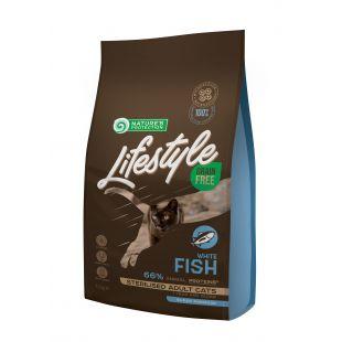 NATURE'S PROTECTION LIFESTYLE Сухой корм для кошек Lifestyle Grain Free Sterilised White Fish Adult Cat 1.5 кг