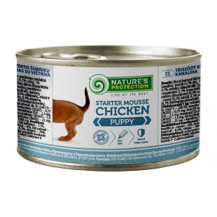 NATURE'S PROTECTION Puppy Starter Mousse Chicken canned puppy food 200 g
