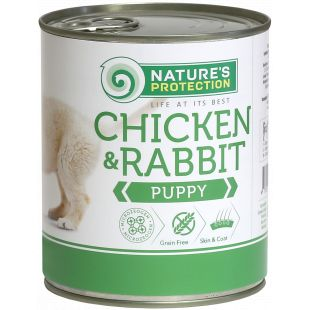 NATURE'S PROTECTION Puppy Chicken & Rabbit Canned dog food 800 g