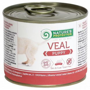 NATURE'S PROTECTION Puppy Veal Canned dog food 200 g