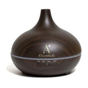A'SCENTUALS Ultrasonic diffuser 300 ml, dark wood imitation