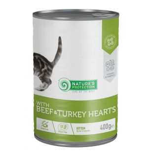 NATURE'S PROTECTION Kitten with Beef & Turkey Hearts canned pet food for kittens 400 g
