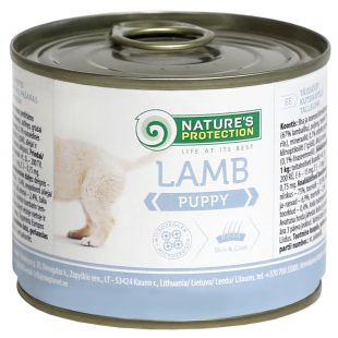 NATURE'S PROTECTION Puppy Lamb Canned dog food 200 g