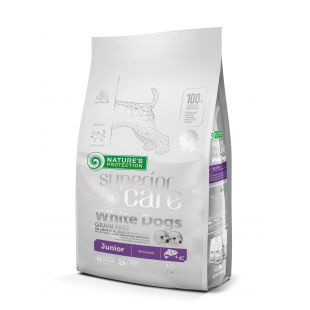 NATURE'S PROTECTION SUPERIOR CARE White Dogs Grain Free Salmon Junior All Breeds 10 kg