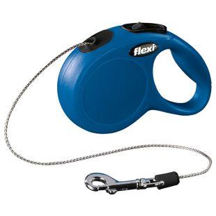 FLEXI Classic Leash, max 8 kg, 3 m, cord, blue, XS