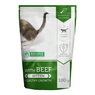 NATURE'S PROTECTION Healthy growth Kitten With beef, canned food for kitten, in a pouch 100 g