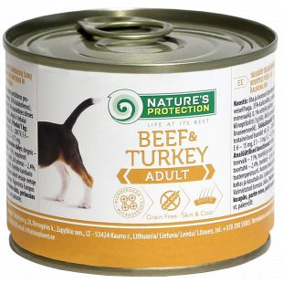 NATURE'S PROTECTION Dog Adult Beef & Turkey Canned dog food 200 g