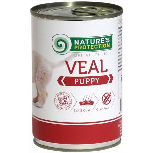 NATURE'S PROTECTION Puppy Veal Canned dog food 400 g