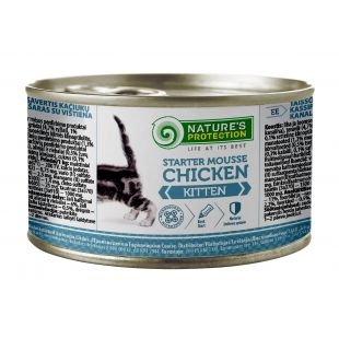 NATURE'S PROTECTION Kitten Starter Mousse Chicken canned food for kittens 200 g