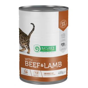 NATURE'S PROTECTION Cat Adult with Beef & Lamb canned food for cats 400 g
