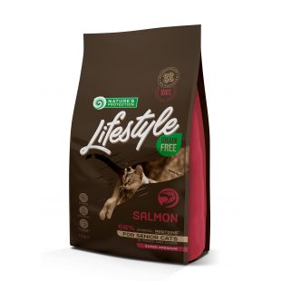 NATURE'S PROTECTION LIFESTYLE Senior Grain Free Salmon Dry food for cats 1.5 kg