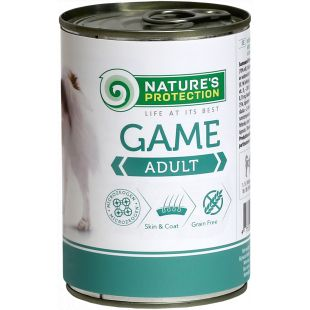 NATURE'S PROTECTION Dog Adult Game with Meat Canned dog food 400 g