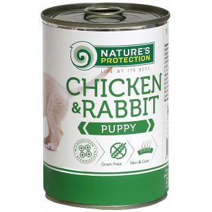 NATURE'S PROTECTION Puppy Chicken&Rabbit Konservuotas pašaras šunims 400 g