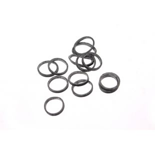 LAINEE Rubber latex 100 pcs juodos, 100 vnt., 8 mm