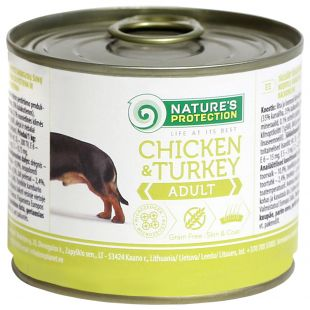 NATURE'S PROTECTION Dog Adult Chicken & Turkey Canned dog food 200 g