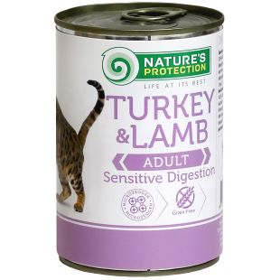 NATURE'S PROTECTION Cat Sensible Digestion Turkey & Lamb canned food for cats 400 g