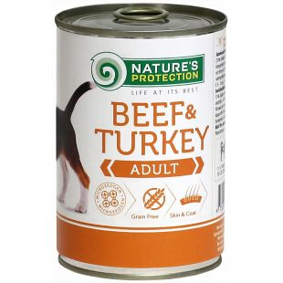 NATURE'S PROTECTION Dog Adult Beef & Turkey Canned dog food 400 g