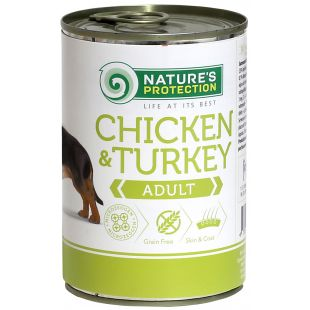 NATURE'S PROTECTION Adult Chicken & Turkey Консервы для взрослых собак 400 г