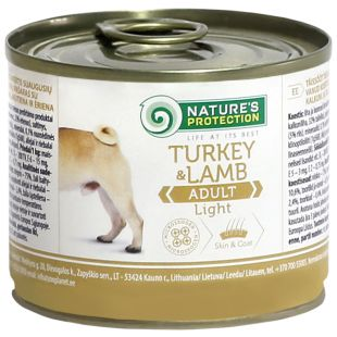 NATURE'S PROTECTION Dog Adult Light Turkey&Lamb  canned dog food 200 g