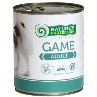 NATURE'S PROTECTION Dog Adult Game with Meat Canned dog food 800 g
