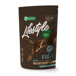 NATURE'S PROTECTION LIFESTYLE Adult Grain Free White Fish Dry food for cats 400 g