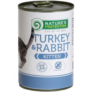 NATURE'S PROTECTION Kitten Turkey & Rabbit  canned kitten food 400g