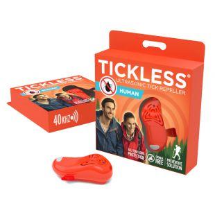 TICKLESS Ultrasonic tick and flea repeller Tickless Human orange