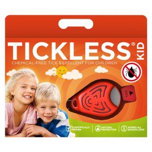 TICKLESS Ultrasonic tick and flea repeller for kids orange