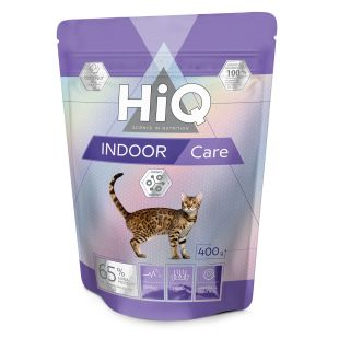 HIQ Indoor care , food for adult cats 400 g