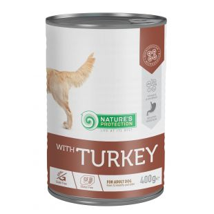 NATURE'S PROTECTION Sensitive Turkey  complete pet food for adult dogs 400 g