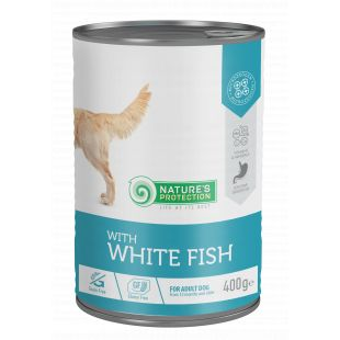 NATURE'S PROTECTION Sensible digestion white fish  complete pet food for adult dogs 400 g