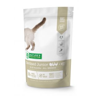NATURE'S PROTECTION Sterilized Junior 6-12 months Poultry with krill Dry cat food 400 g