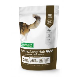 NATURE'S PROTECTION Sterilized Longhair Adult 1 year and older Poultry Dry food for cats 400 g
