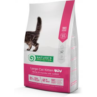 NATURE'S PROTECTION Large cat Kitten Poultry Up to 15 months old Large breed dry food for cats 2 kg